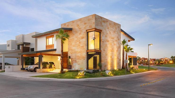CASA CAR Imativa Arquitectos Casas de estilo moderno Piedra Ámbar/Dorado