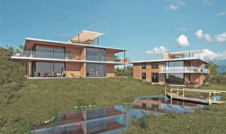 Nachhaltiges Wohnen ARCHITEKTURBÜRO KADEN Moderne Häuser Holz