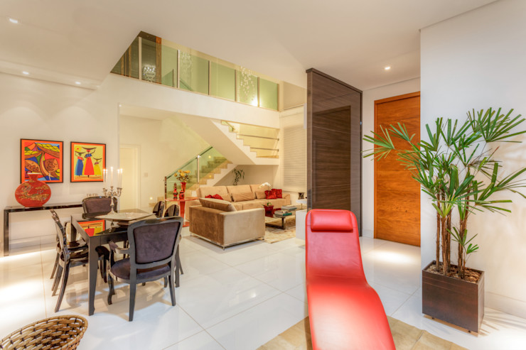 sala de estar jantar – Nova Lima JANAINA NAVES - Design & Arquitetura Salas de estar modernas