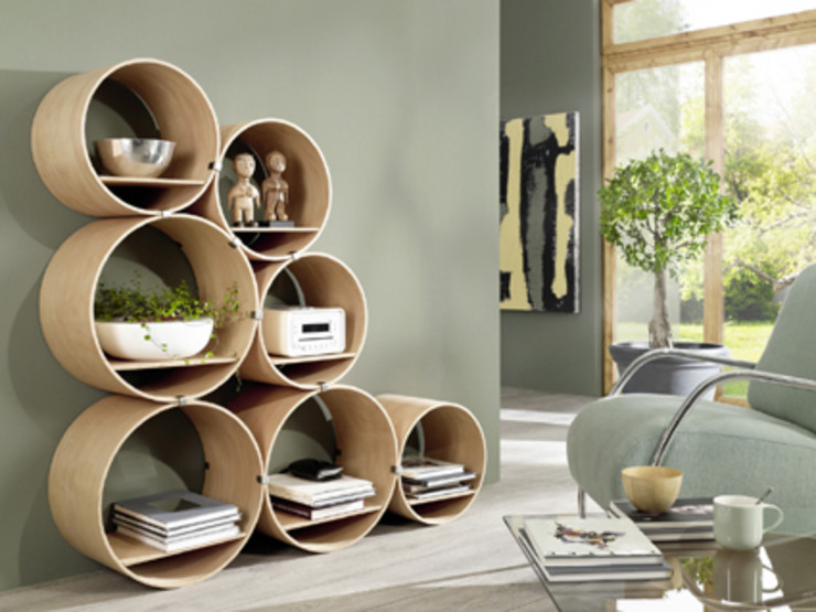 Kißkalt Designs リビングルーム棚 木