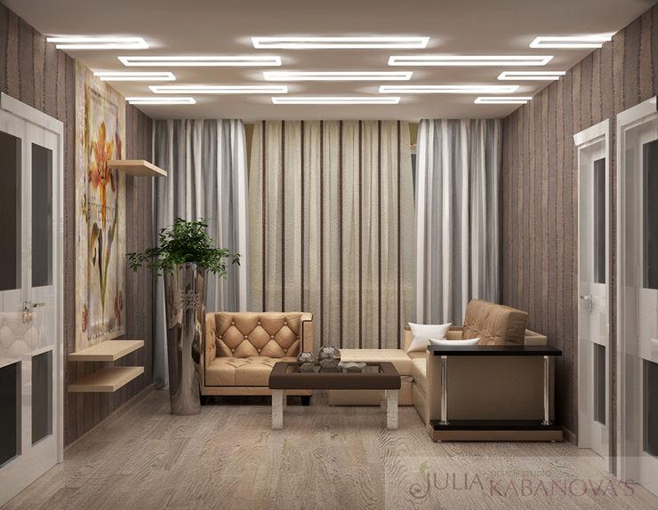 JULIA KABANOVA's DESIGN STUDIO Salones de estilo moderno Marrón
