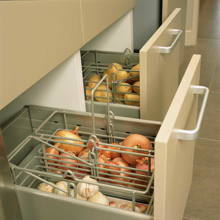 Verdulero DEULONDER arquitectura domestica Cocinas modernas Metálico/Plateado