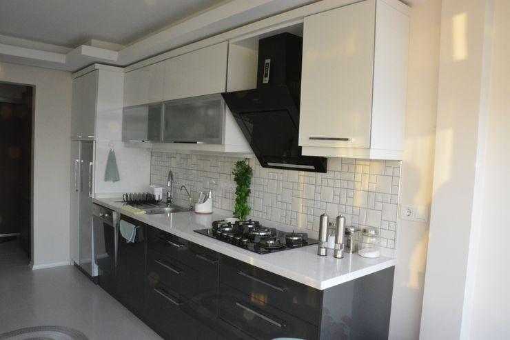 İzmir Mimkent'te Yeni Bir Yaşam Projesi ACS Mimarlık Modern Mutfak Beyaz