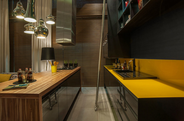 Pulse Arquitetura Eclectic style kitchen