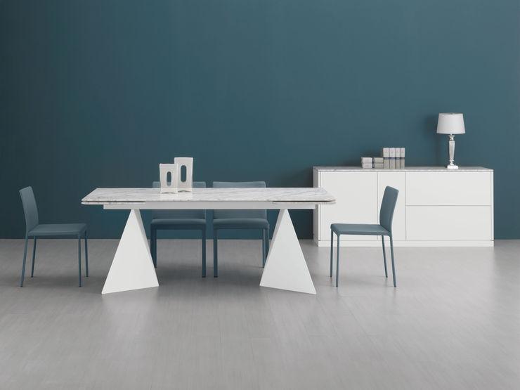 LUIGI SEMERARO design Sala de jantarMesas Mármore Branco