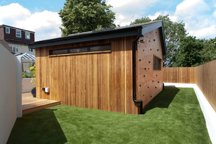 homify Modern Garage and Shed