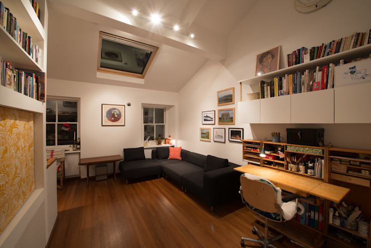 189 Richmond Road ATOM BUILD LTD Modern Living Room