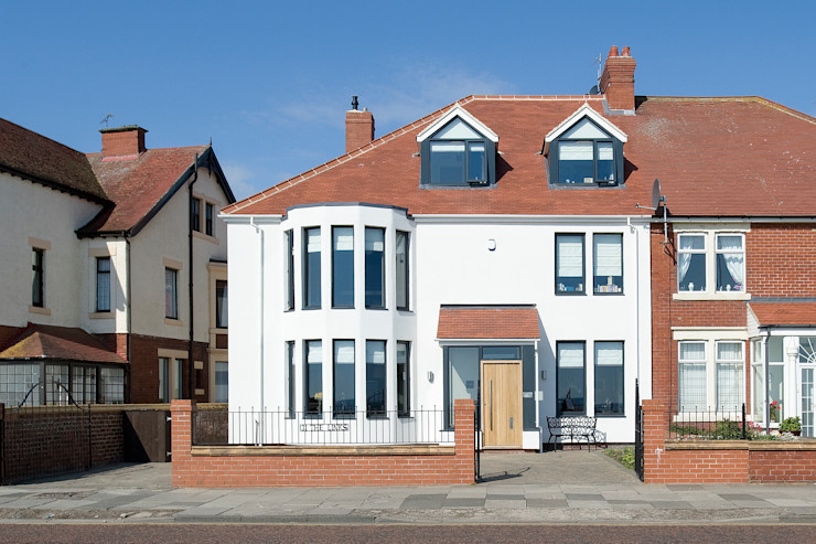 The Links, Whitley Bay xsite architecture LLP Modern Houses