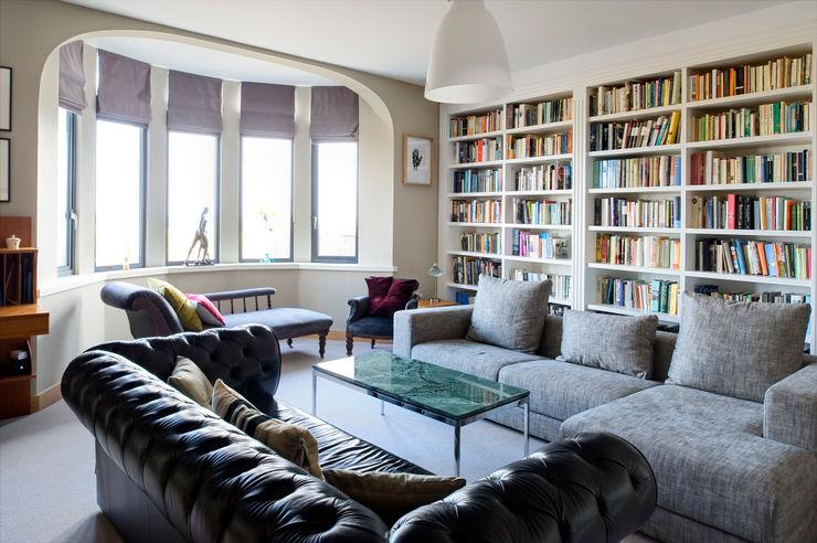 The Links, Whitley Bay xsite architecture LLP Salas de estar modernas