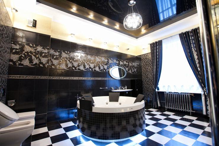 Квартира в классическом стиле Antica Style Ванная в классическом стиле Плитка Черный