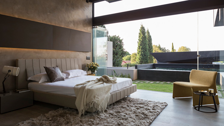 Kloof Road House Nico Van Der Meulen Architects Modern style bedroom