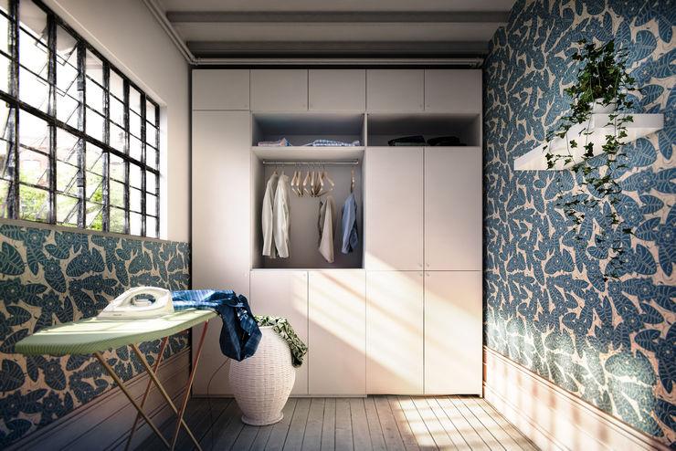Laundry Shot de-cube Balcone, Veranda & TerrazzoMobili