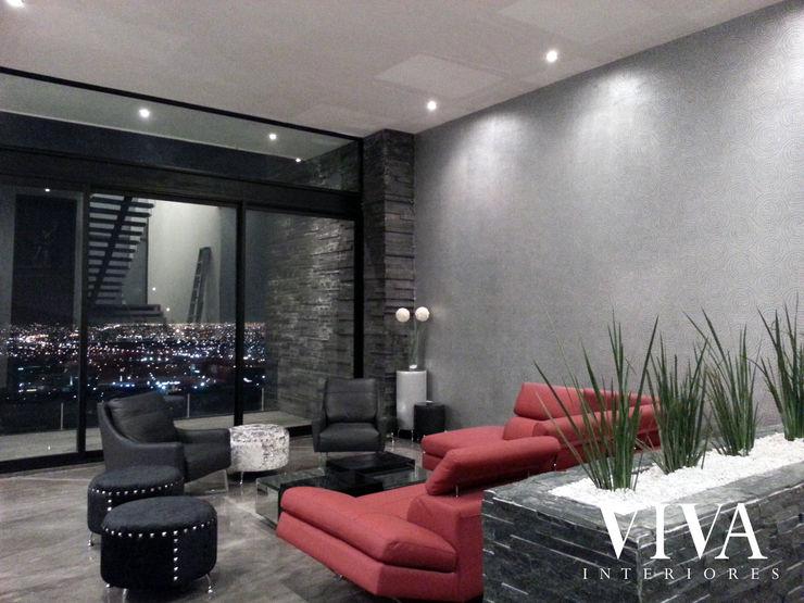 Plantilla Decorativa VIVAinteriores Salones minimalistas Gris