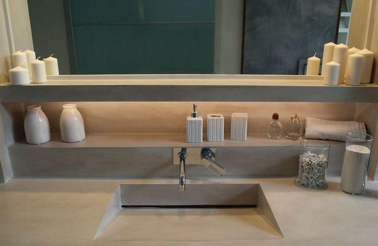 Varie applicazioni della resina negli ambienti Resin srl Bagno moderno