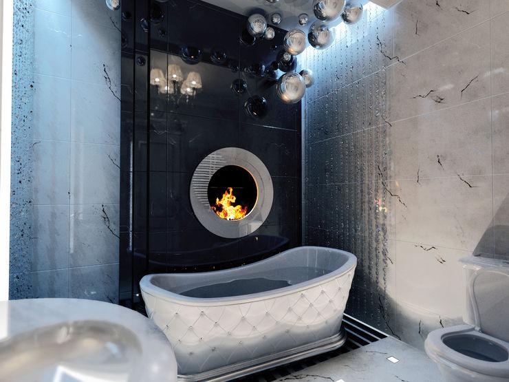 Квартира на Оболонской набережной Киева 27Unit design buro Ванная комната в эклектичном стиле