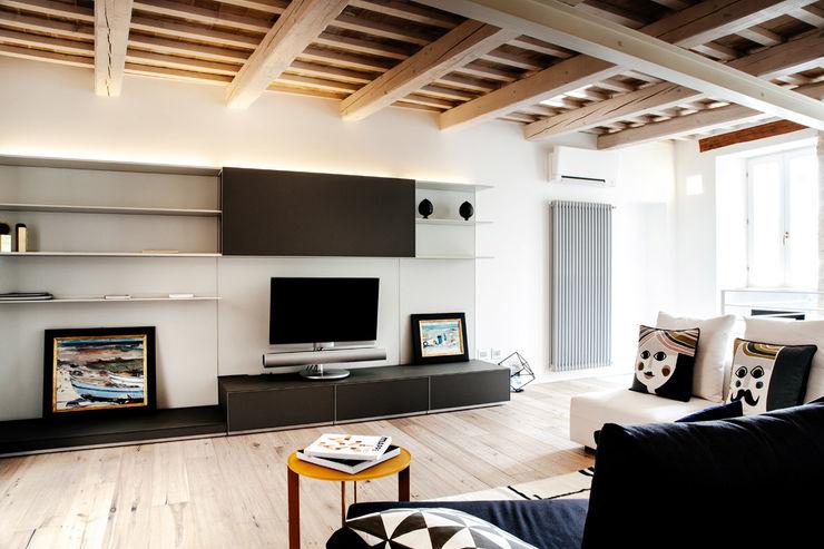 Casa Amalasunta Ossigeno Architettura Soggiorno in stile mediterraneo