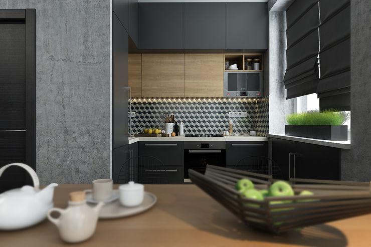 Solo Design Studio Scandinavian style kitchen Wood effect