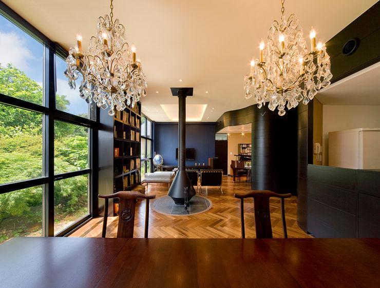 モリモトアトリエ / morimoto atelier Modern dining room Blue