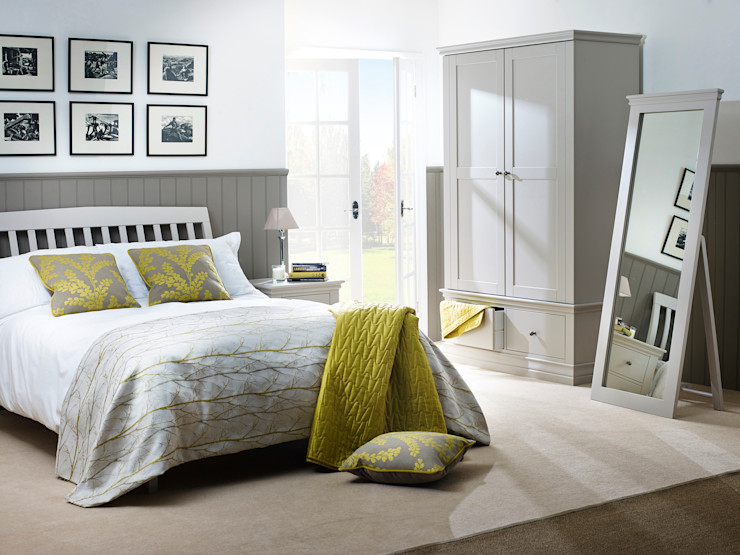 Annecy Hand Painted Bedroom Furniture Corndell Quality Furniture BedroomBeds & headboards Wood Grey