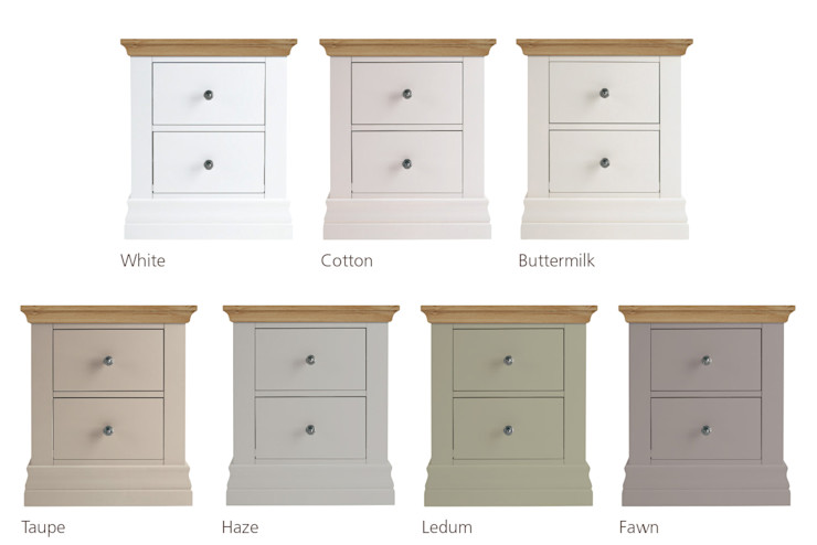 Annecy Hand Painted Bedside Chest Corndell Quality Furniture BedroomBedside tables Wood