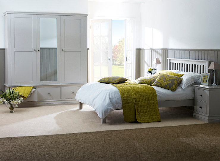 Annecy Hand Painted Bedroom Corndell Quality Furniture BedroomWardrobes & closets Wood Grey
