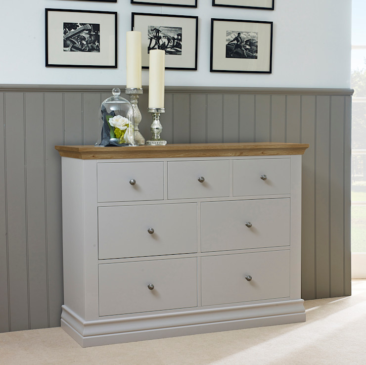 Annecy Hand Painted Bedroom Furniture Corndell Quality Furniture BedroomWardrobes & closets Wood Grey