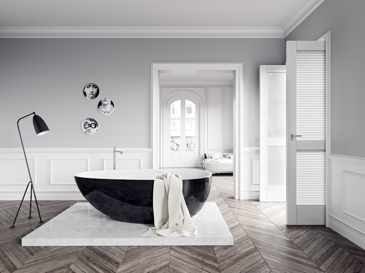Vallone GmbH Baños de estilo moderno