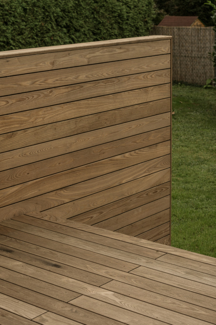 Arch. DI Peter Polding ZT Classic style balcony, porch & terrace Wood