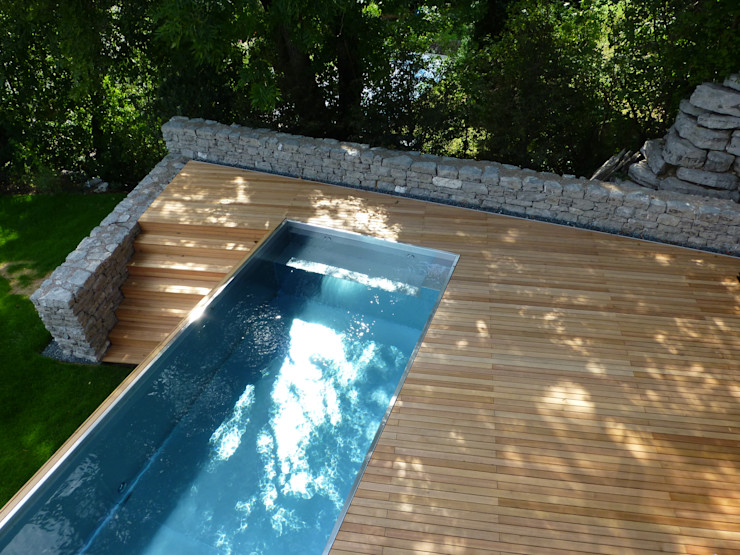 Garten in der Thermenregion BEGRÜNDER Moderne Pools