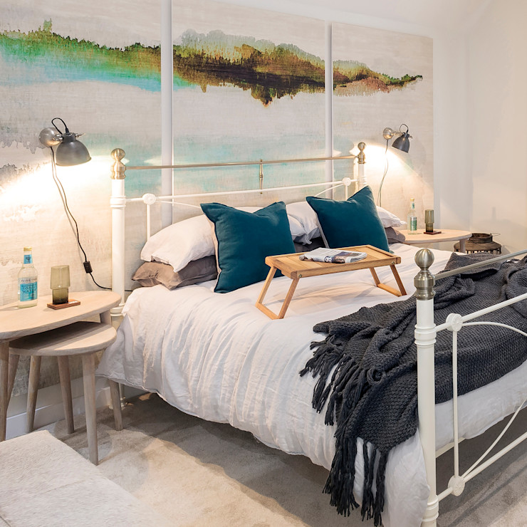 Master bed by WN Interiors homify Industrial style bedroom