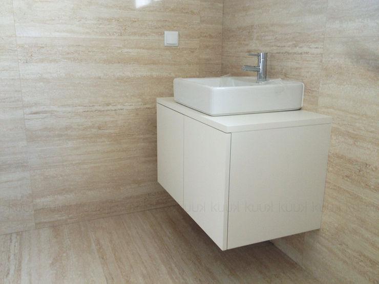 KUUK Minimalist style bathroom MDF White