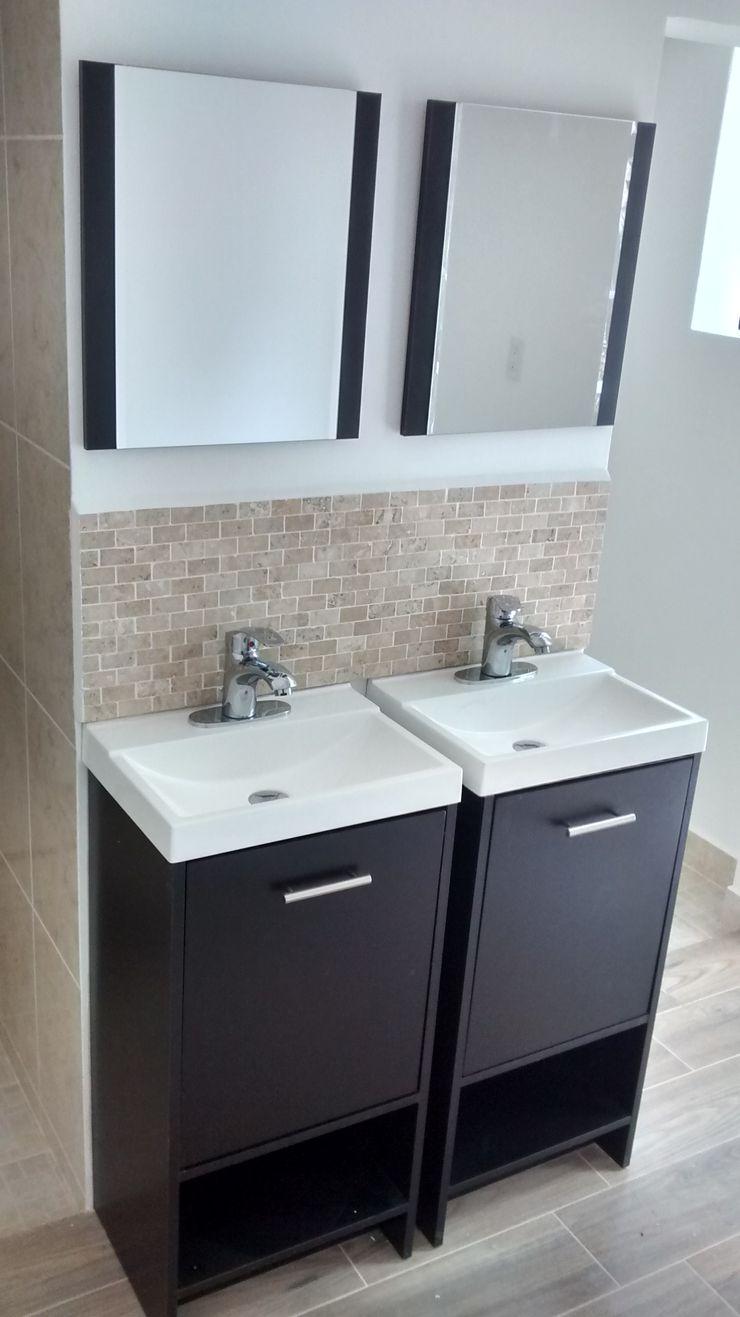 Habilitación de baños en cuarto de servicio Fixing Baños eclécticos Azulejos Beige