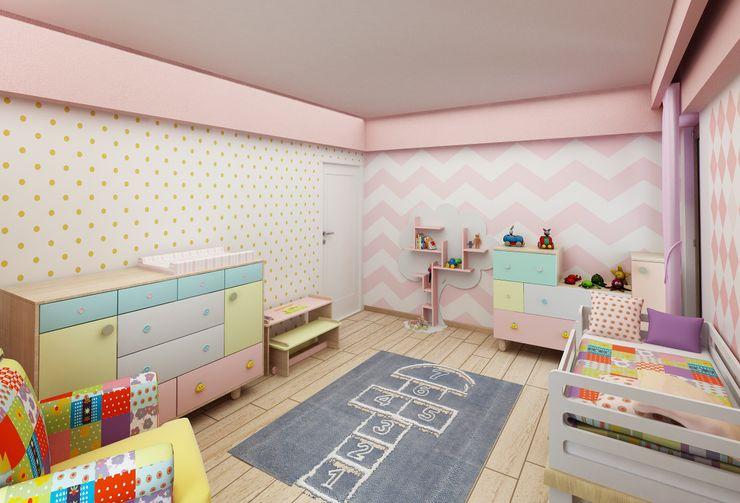 Murat Aksel Architecture Modern Kid's Room Wood Multicolored