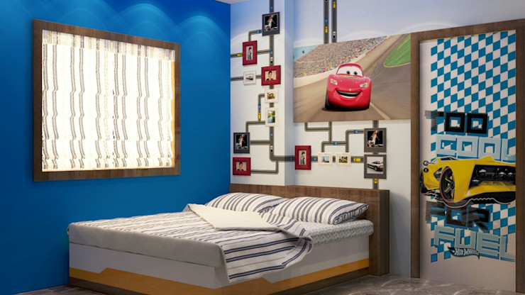 Room 4 bed view Creazione Interiors Modern style bedroom