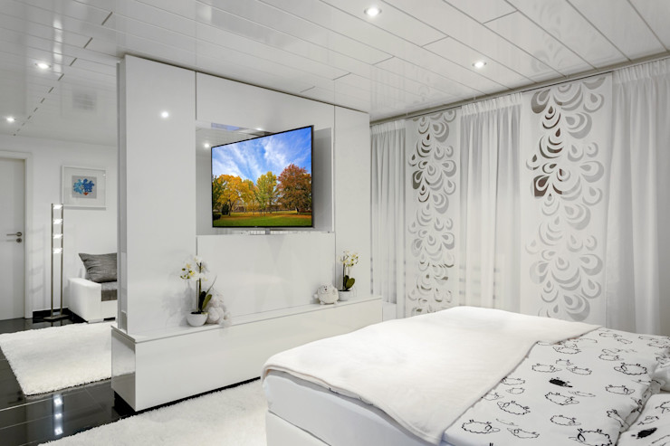 TV WALL Designmöbel Living roomTV stands & cabinets Wood-Plastic Composite White