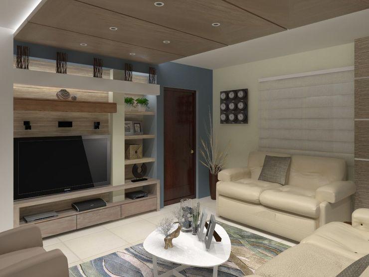SALA MULTIMEDIA AurEa 34 -Arquitectura tu Espacio- Salas multimedia de estilo moderno Beige