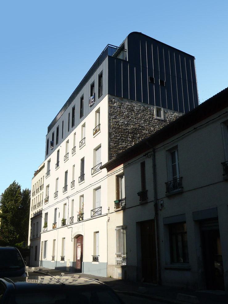 Sur-élevation à ossature Bois - Montreuil AADD+ Maisons modernes