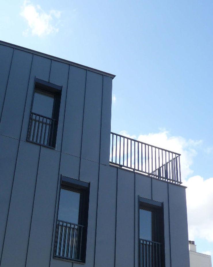 Sur-élevation à ossature Bois – Montreuil AADD+ Maisons modernes