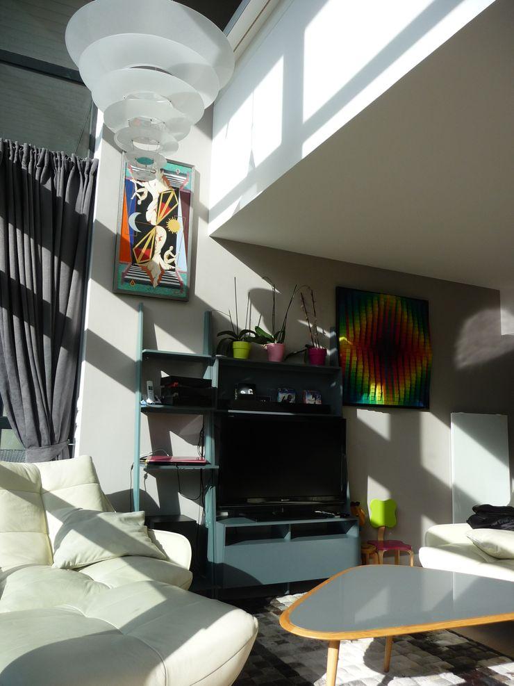 Duplex Parc de Bercy AADD+ Salon moderne