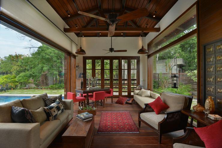 Chattarpur Farmhouse New Delhi monica khanna designs 客廳沙發與扶手椅