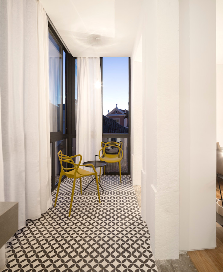 Príncipe real apartment lisbon fala Modern Terrace