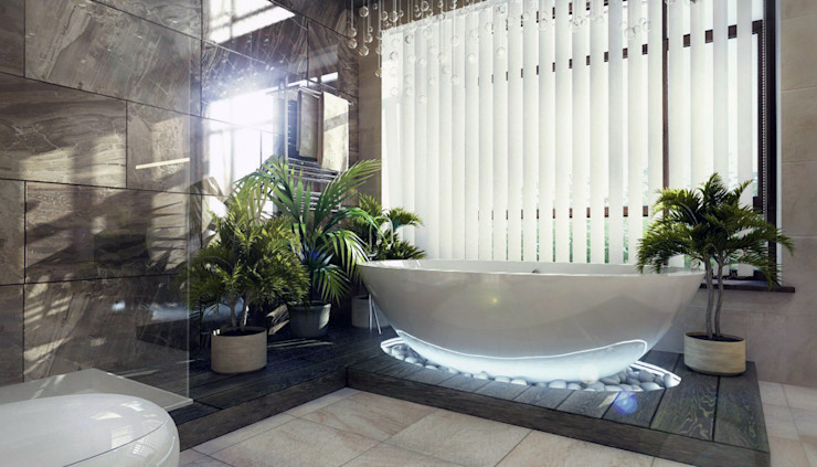 Kakoyan Design Moderne Badezimmer Mehrfarbig