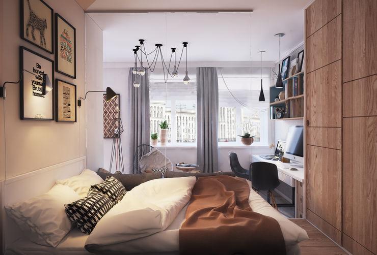 """APARTMENT """"VERBI"""" Polygon arch&des Dormitorios de estilo minimalista"""