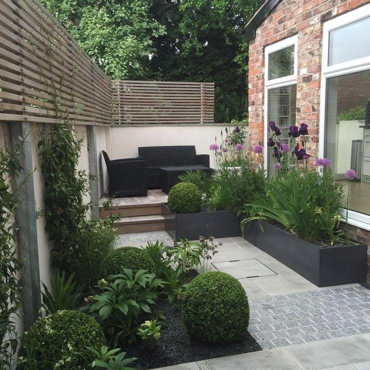 Bowden House Aralia Minimalist style garden Stone Green