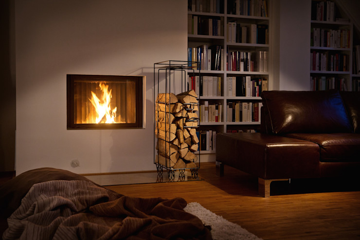 homify Living roomFireplaces & accessories Black
