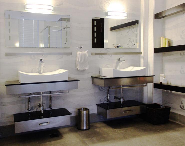 H5 Interior Design 現代浴室設計點子、靈感&圖片 Grey