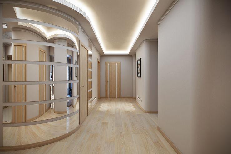 homify Modern corridor, hallway & stairs Beige