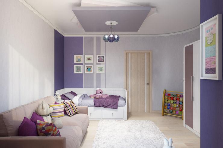 homify Nursery/kid's room Purple/Violet