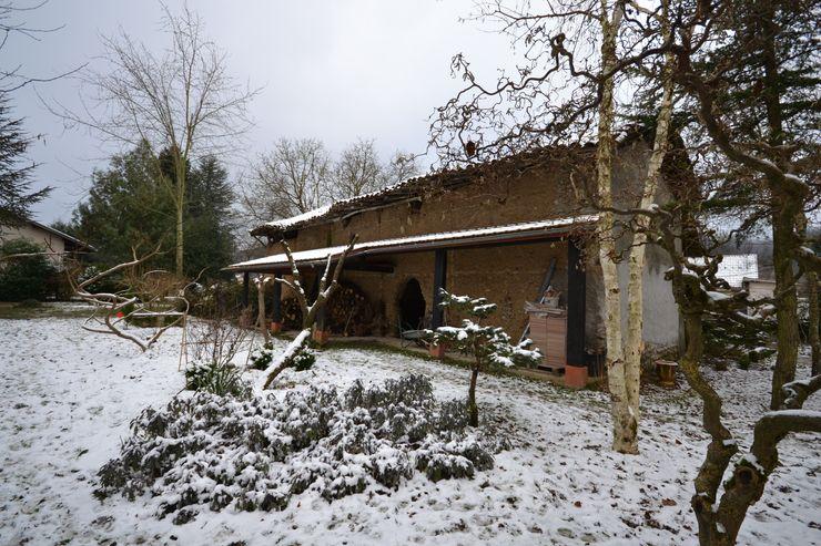 Face nord de la grange avant travaux de rénovation KREA Koncept Maisons originales