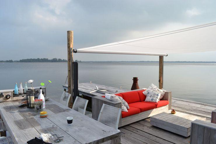 RollOff, das aufrollbare Sonnensegel Textile Sonnenschutz- Technik GartenMöbel